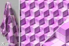 3Demian_3D_SL_BLK_pattern220Blossom